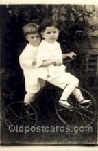 tra005073 - Chidren on Bicycles, tricycles postcard postcards