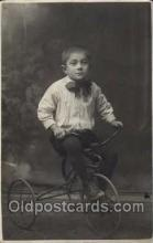 tra005077 - Chidren on Bicycles, tricycles postcard postcards