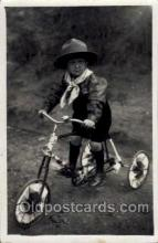 tra005078 - Chidren on Bicycles, tricycles postcard postcards