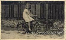 tra005079 - Chidren on Bicycles, tricycles postcard postcards