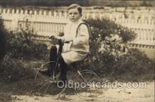 tra005080 - Chidren on Bicycles, tricycles postcard postcards