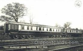 tra006098 - Their Majesties Royal Saloons Train Trains, Postcard Postcards