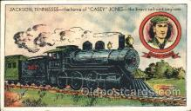 tra006128 - Casey Jones Train Trains Locomotive, Steam Engine,  Postcard Postcards