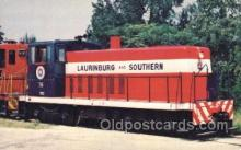 tra006147 - Laurinburg and Southern Railroad Train Trains Locomotive, Steam Engine,  Postcard Postcards