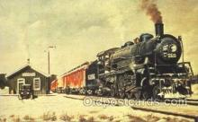 tra006155 - Milwaukee Train Trains Locomotive, Steam Engine,  Postcard Postcards