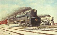 tra006161 - Race of the Titans Train Trains Locomotive, Steam Engine,  Postcard Postcards
