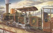 tra006176 - The Rigi Rock Railway, Switzerland Train Trains Locomotive, Steam Engine,  Postcard Postcards