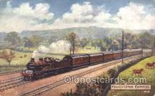 tra006179 - Manchester Express, Usa Train Trains Locomotive, Steam Engine,  Postcard Postcards