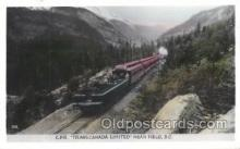 tra006202 - Transcanada Limited Near British Columbia, Train Trains Locomotive, Steam Engine,  Postcard Postcards