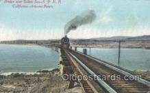 tra006206 - California-ArizonaRoute, Usa Train Trains Locomotive, Steam Engine,  Postcard Postcards