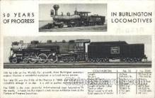 tra006212 - Burlington Locomotives Train Trains Locomotive, Steam Engine,  Postcard Postcards