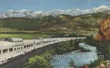 tra006235 - Diesel-Powered Train Trains Locomotive, Steam Engine,  Postcard Postcards