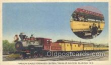 tra006237 - Narrow-Gauge Deawood Central, chicago Railroad Fair Train Trains Locomotive, Steam Engine,  Postcard Postcards