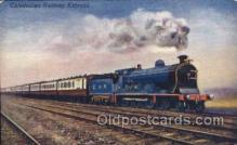 tra006239 - Caledonian Railway Express Train Trains Locomotive, Steam Engine,  Postcard Postcards