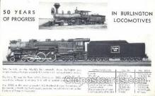 tra006246 - Burlington Locomotives Train Trains Locomotive, Steam Engine,  Postcard Postcards