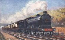 tra006249 - Glasgow express Train Trains Locomotive, Steam Engine,  Postcard Postcards