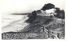 tra006251 - Daylight Southern Pacific New Streamline Train, Between San Francisco and Los Angeles, California, USA Train Trains Locomotive, Steam Engine,  Postcard Postcards