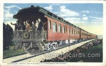 tra006254 - Shoreline limited Train Trains Locomotive, Steam Engine,  Postcard Postcards