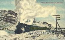 tra006255 - West Bound Overland Train Trains Locomotive, Steam Engine,  Postcard Postcards