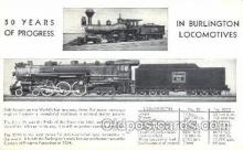 tra006259 - Burlington Locomotives Train Trains Locomotive, Steam Engine,  Postcard Postcards