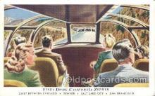 tra006268 - Vista Dome California Zephyr Train Trains Locomotive, Steam Engine,  Postcard Postcards