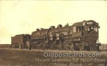 tra006279 - Mallet Compound S.P. Freight Engine Sierra Grade, postal used 1910 Train Trains Locomotive, Steam Engine,  Postcard Postcards