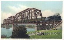 tra006280 - Missouri River, Mobridge, South Dakota, USA Train Trains Locomotive, Steam Engine,  Postcard Postcards