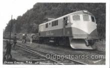 tra006300 - Diesel-Powered, Stagway Alaska Train Trains Locomotive, Steam Engine,  Postcard Postcards