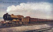 tra006305 - North British Railway, Edinburgh Express Train Trains Locomotive, Steam Engine,  Postcard Postcards