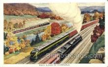 tra006307 - Main Lines of Commerce Train Trains Locomotive, Steam Engine,  Postcard Postcards