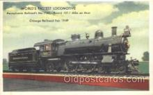 tra006308 - Pennsylvania Railroad Train Trains Locomotive, Steam Engine,  Postcard Postcards
