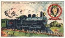 tra006326 - Casey Jones Train Trains Locomotive, Steam Engine,  Postcard Postcards