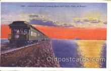 tra006332 - The Overland Limited Train Trains Locomotive, Steam Engine,  Postcard Postcards