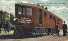 tra006336 - Motor Car Conveying Passengers from San Diego California to La Jolla, California, USA Train Trains Locomotive, Steam Engine,  Postcard Postcards