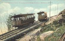tra006352 - Uncanoounc Incline Railway, Uncanoonuc Mountain, New Hampshire, USA Usa Train Trains Locomotive, Steam Engine,  Postcard Postcards