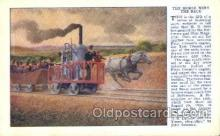 tra006365 - The Horse wins Train Trains Locomotive, Steam Engine,  Postcard Postcards