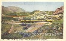 tra006375 - Santa Fe Railway, Diesel-Powered Train Trains Locomotive, Steam Engine,  Postcard Postcards