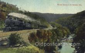 tra006392 - Western Express, Berkshire Hills Train Trains Locomotive, Steam Engine,  Postcard Postcards