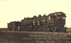 tra006405 - Mallet Compound S.P. Freight Engine Train Trains Locomotive, Steam Engine,  Postcard Postcards