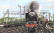tra006411 - North Eastern Express Train Trains Locomotive, Steam Engine,  Postcard Postcards