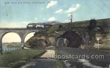 tra006414 - River Drive and Tunnel Train Trains Locomotive, Steam Engine,  Postcard Postcards