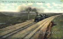 tra006419 - Granite Canon Station Wyominbg, On line of Union Pacific, Train Trains Locomotive, Steam Engine,  Postcard Postcards