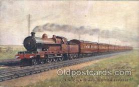 tra006421 - Raphael Tuck & Sons London, Midland Scottish Express Train Trains Locomotive, Steam Engine,  Postcard Postcards