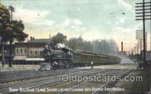 tra006432 - Lake Shore Limited Coming into Dayton, Ohio, USA Train Trains Locomotive, Steam Engine,  Postcard Postcards