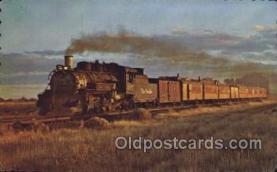tra006451 - Between Alamosa and Durango Coloroado, USA Train Trains Locomotive, Steam Engine,  Postcard Postcards