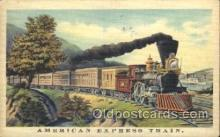 tra006453 - American Express Train Trains Locomotive, Steam Engine,  Postcard Postcards