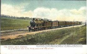 tra006459 - Calais-Paris Express Train Trains Locomotive, Steam Engine,  Postcard Postcards