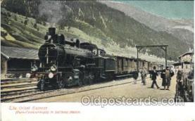 tra006460 - The Orient Express in Salzburg Station, Train Trains Locomotive, Steam Engine,  Postcard Postcards
