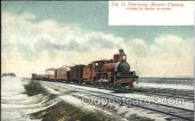 tra006461 - St. Petersburg-Moscow Express Train Trains Locomotive, Steam Engine,  Postcard Postcards