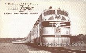 tra006470 - Texas Zephyr Train Trains Locomotive, Steam Engine,  Postcard Postcards